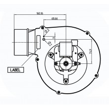 вентилатор 162m3/h-57W Датчик Хол