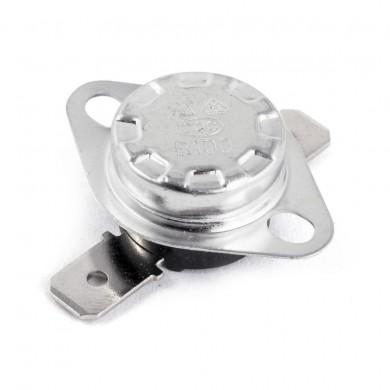 Bi-metallic thermostat with flange