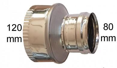 редуктор инокс Ø 80-Ø120мм