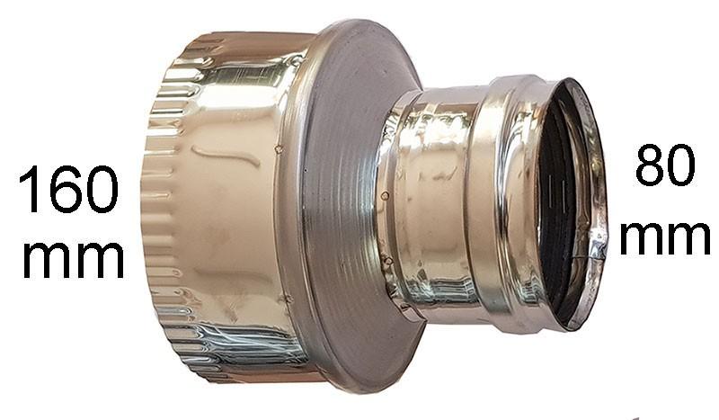 редуктор инокс Ø 80-Ø160мм