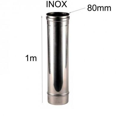Тръба инокс 1метър-Ø 80мм