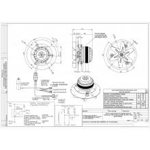 Вентилатор 180m3/h 32W Датчик Хол