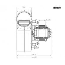 вентилатор 110м3 със Датчик Хол
