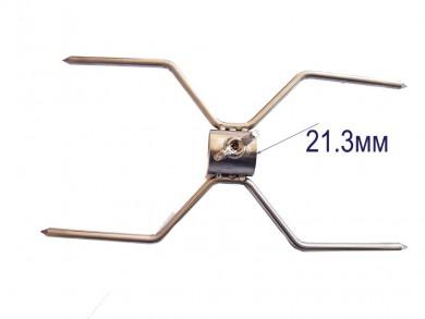 Двойна метална вилица Х образна