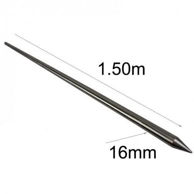 метален шиш дължина 1.50м INOX-16мм