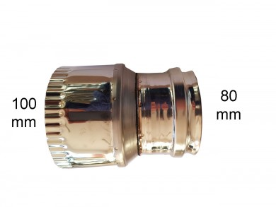 редуктор инокс Ø 80-Ø100мм