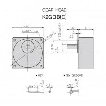 Редуктор GGM-100В 90x90mm 12.5 оборота