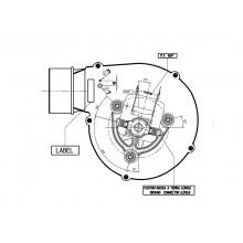 вентилатор  170m3/h-55W