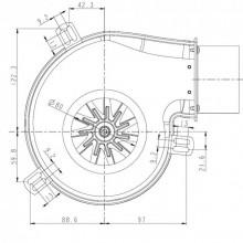 Вентилатор за димни газове 160м3-50W