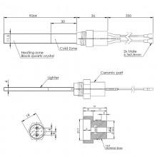 Кварцов нагревател-ново поколение 300W резба3/8