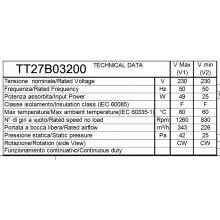 Вентилатор за конвектор 226m3-343m3 -645mm