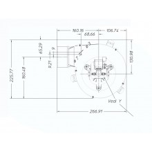вентилатор 120m3/h 34W Датчик Хол