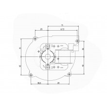 вентилатор тип охлюв 70m3/h-28W