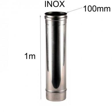 Тръба инокс 1метър-Ø 100mm