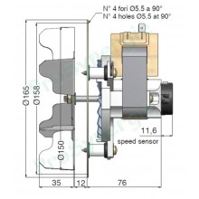 Вентилатор AACO 135m3/h 50W Датчик Хол