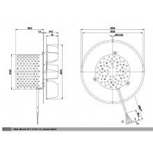 Вентилатор 600m3/h 125W Датчик Хол