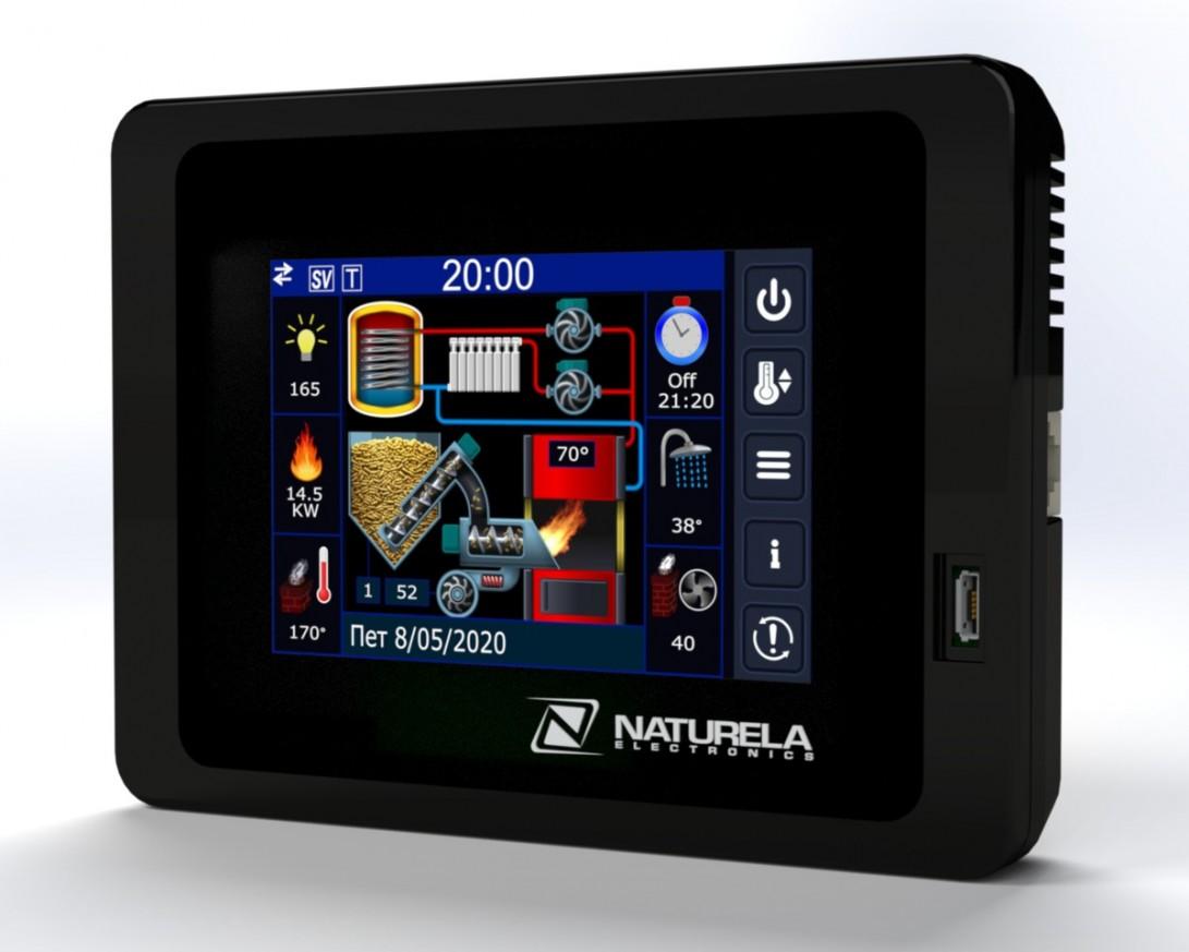 Контролер за пелетни горелки с touch дисплей