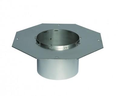 Octagonal flange for steel chimne