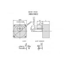Редуктор GGM - 150В 80x80mm  8.3 оборота