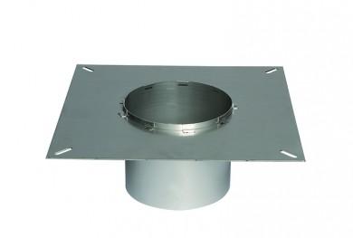 Square flange for steel chimne