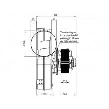 Вентилатор димни газове 330m3/h 77W Датчик Хол