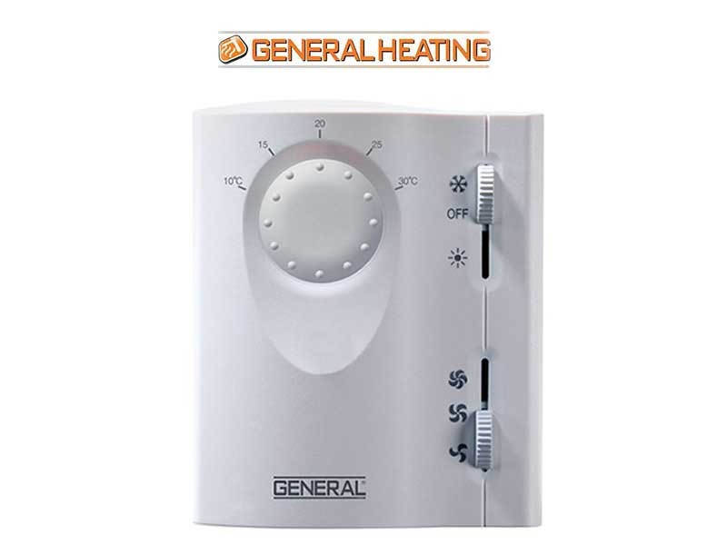 Fan-coil room thermostat