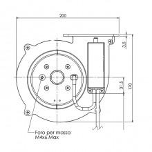 Вентилатор тип охлюв 300m3/h 85W