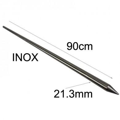 метален шиш дължина 90см INOX-21.3мм