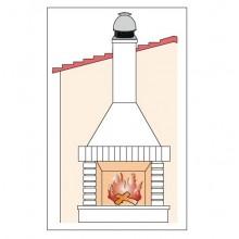 Покривен вентилатор за камини 2000м3-180W