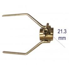 двойна вилица 21.3мм INOX-10см